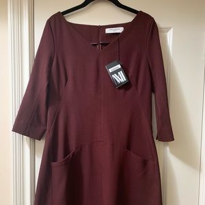 NWT MM LAFLEUR Burgundy Dress Size 12